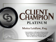 avvo platinum client champion award moira s. laidlaw attorney trusts & estates elder law medicaid planning special needs planning attorney hollis laidlaw & simon westchester mount kisco new york city law firm