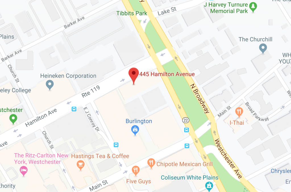 map 445 hamilton avenue white plains ny hollis laidlaw & simon westchester mount kisco new york law city firm litigation real estate trusts & estates employment law corporate law land use & zoning