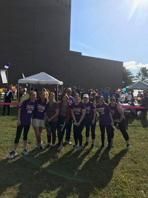 team hollis laidlaw & simon at 2019 walk to end alzheimer's